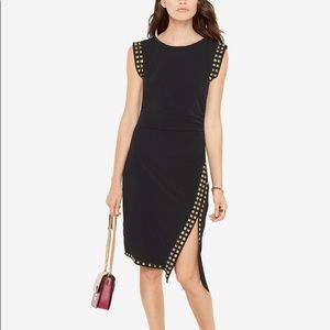 Michael Kors Black Gold Studded Sheath Dress